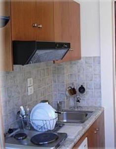 Η κουζίνα ή μικρή κουζίνα στο Constantino's Studios