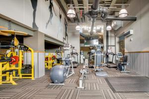 The fitness center and/or fitness facilities at Mint House Downtown Pittsburgh