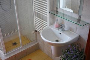 Kúpeľňa v ubytovaní u Jaňola