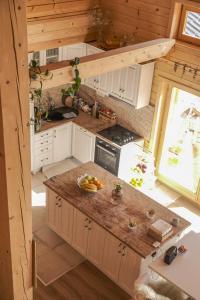 A kitchen or kitchenette at Amazing chalet in Kolasin Montenegro