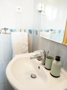 A bathroom at Sea view Apartments Javor