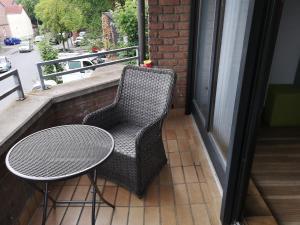 Ein Balkon oder eine Terrasse in der Unterkunft Ferienwohnung Hölscher
