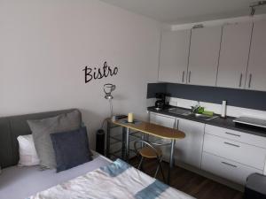 Küche/Küchenzeile in der Unterkunft Ferienwohnung Hölscher