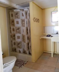 A bathroom at Chapito's Apartment 3