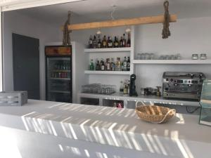 The lounge or bar area at Irida Luxury Apartments