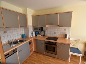 Küche/Küchenzeile in der Unterkunft Ferienhaus Moselufer