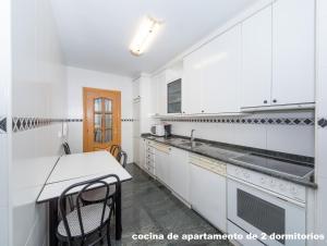 A kitchen or kitchenette at Gestión de Alojamientos Apartments