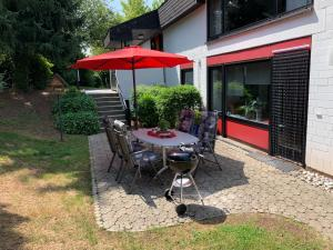 A porch or other outdoor area at Ferienwohnung Land-Idylle