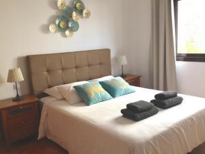 Cama o camas de una habitación en Villas Lanzarote Natura