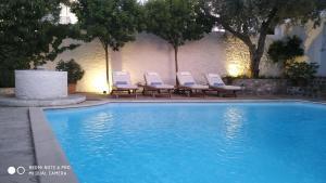 Het zwembad bij of vlak bij Economou Mansion