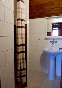 Ein Badezimmer in der Unterkunft Ubytování Medlov