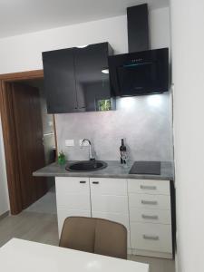 A kitchen or kitchenette at Apartmani Benjamin