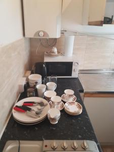A kitchen or kitchenette at Perfect Studio in Harrow