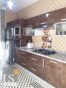 A kitchen or kitchenette at مطار محمد الخامس