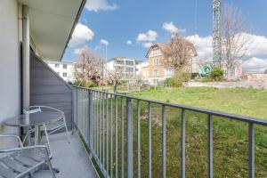 Ein Balkon oder eine Terrasse in der Unterkunft Anstatthotel.ch Hochdorf