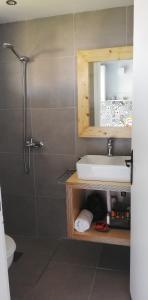 A bathroom at Rigas Rooms