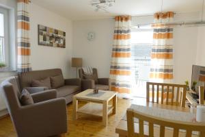Ein Sitzbereich in der Unterkunft Haag Ferienwohnungen