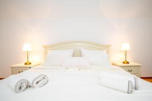 Postelja oz. postelje v sobi nastanitve Apartment with view Žirovnica