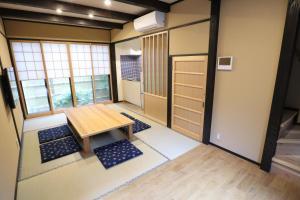 A seating area at Kyoto Oyado ZEN