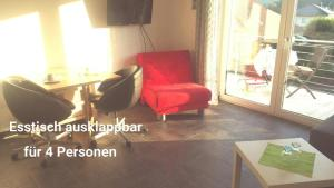 A seating area at Studio am Waldrand