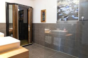 Ein Badezimmer in der Unterkunft Alpenzeit
