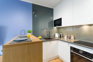 Kuchnia lub aneks kuchenny w obiekcie Motlava Gdansk Apartment