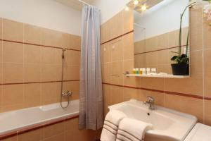 Koupelna v ubytování Vinohrady Sazavska Apartments