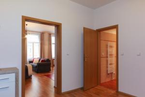 TV a/nebo společenská místnost v ubytování Vinohrady Sazavska Apartments