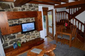 A television and/or entertainment center at Apartamentos Spa Cantabria Infinita