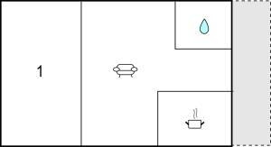 The floor plan of Holiday home Heinrich-Heine-Str. R