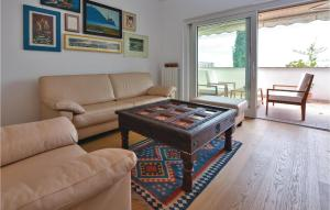 A seating area at Three-Bedroom Apartment in Koper