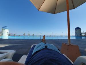 Piscina en o cerca de Departamento en suit vista al mar