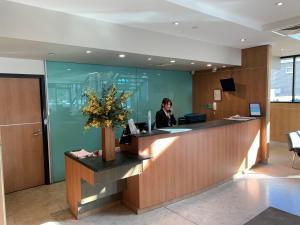Лобі або стійка реєстрації в Nesuto Parramatta (formerly Waldorf Parramatta Apartment Hotel)