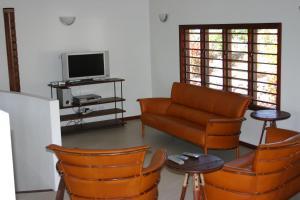 A seating area at Bularangi Villa, Fiji