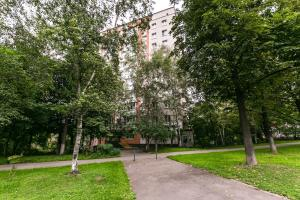 A garden outside Leninsky Apartments