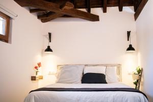 Cama o camas de una habitación en Atico con vistas