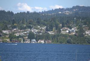 The surrounding neighborhood or a neighborhood close to the apartment