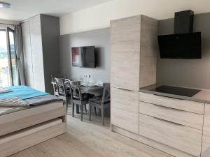 TV a/nebo společenská místnost v ubytování Apartmán Lipno-Šestka