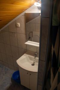A bathroom at Apartment Viganj 633a