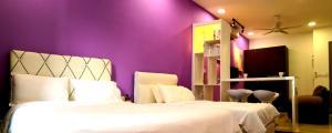 A bed or beds in a room at Comfortzone@Malacca near Jonker, Staduys, Menara Taming Sari