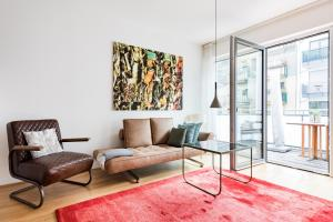A seating area at modern living in Dresden Neustadt