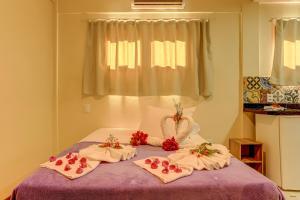 Cama o camas de una habitación en Quixaba Flat