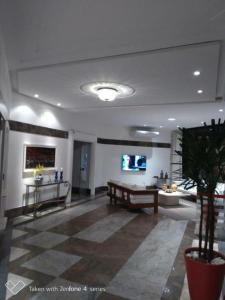 The lobby or reception area at Flat Atlantic City - Apart Hotel em Ondina Barra
