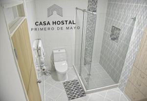 A bathroom at Casa hostal primero de mayo