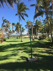 A garden outside Absolute Oceanfront Suite