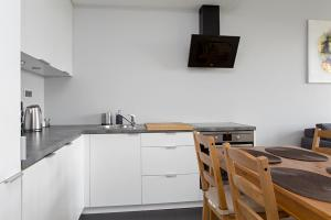 A kitchen or kitchenette at Wola Apartment