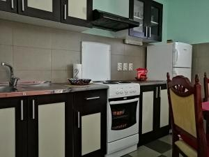 A kitchen or kitchenette at Airplane Apartment T&T