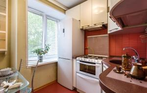 A kitchen or kitchenette at Perfect 2-rooms Kolomenskoe