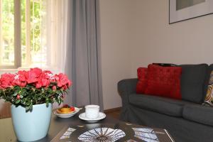 A seating area at Vinohrady Moravska Apartments