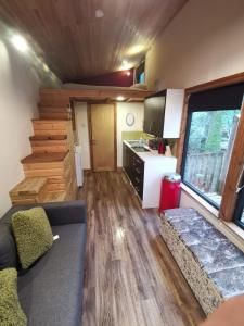 A seating area at Tiny House-Hot Tub-St Clears-Pembrokeshire-Tenby